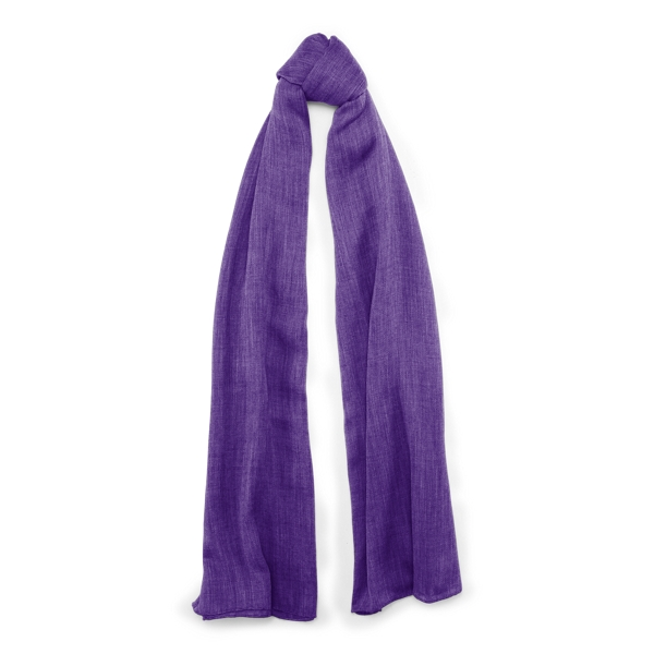 Ralph Lauren Cash Sf-Oblong Scarf-Cashmere Bright Purple One Size