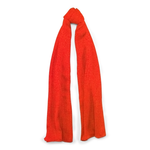Ralph Lauren Cash Sf-Oblong Scarf-Cashmere Bright Orange One Size
