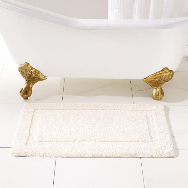 Ralph Lauren Wescott Bath Rug Linen Cream Bath Mat