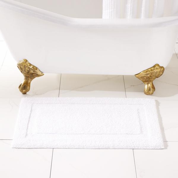 Ralph Lauren Wescott Bath Rug Sailcloth White Bath Mat