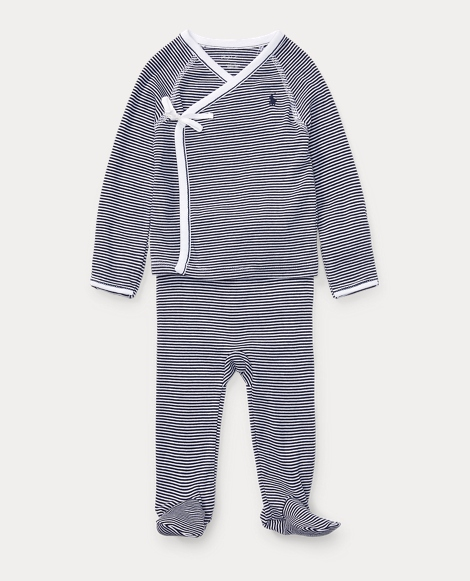 Striped Kimono 2-Piece Set