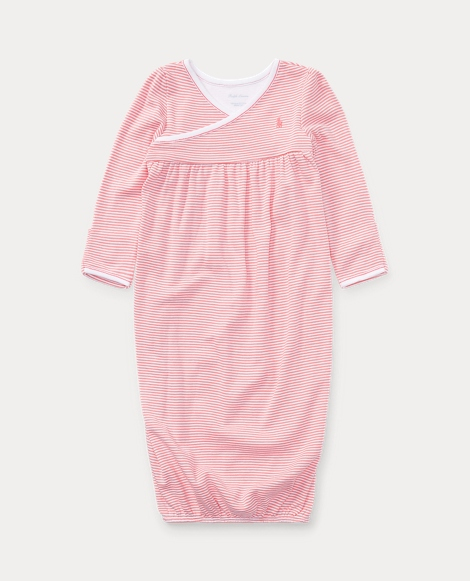 Striped Cotton Gown