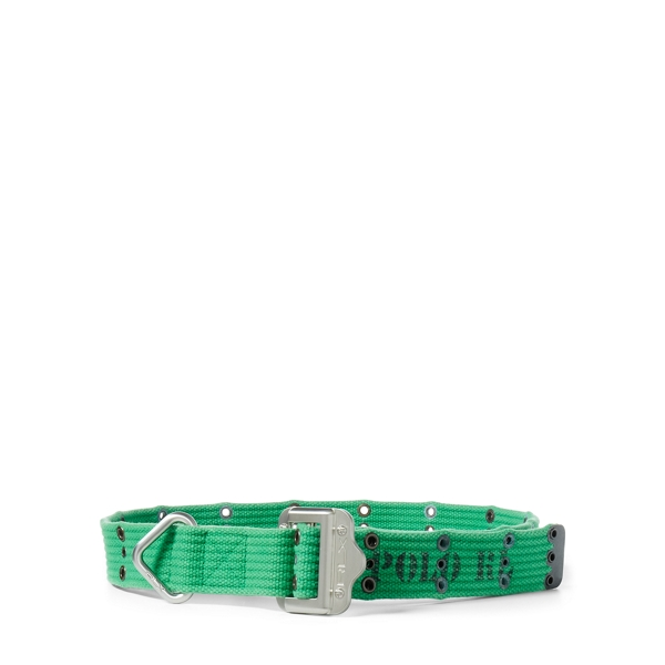 Ralph Lauren Slider-Buckle Webbed Belt Green L