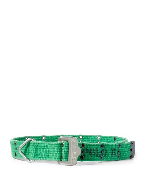 Slider-Buckle Webbed Belt