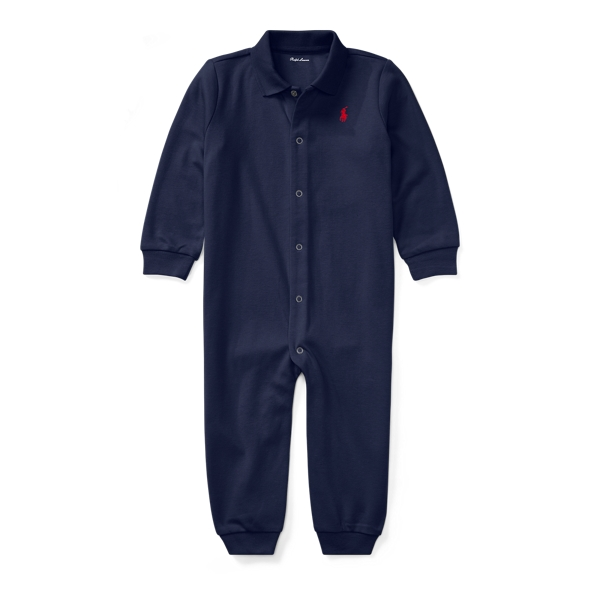 Ralph Lauren Cotton Polo Coverall French Navy Newborn