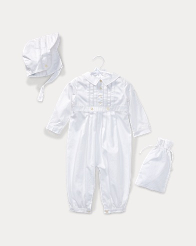 Cotton Christening Coverall