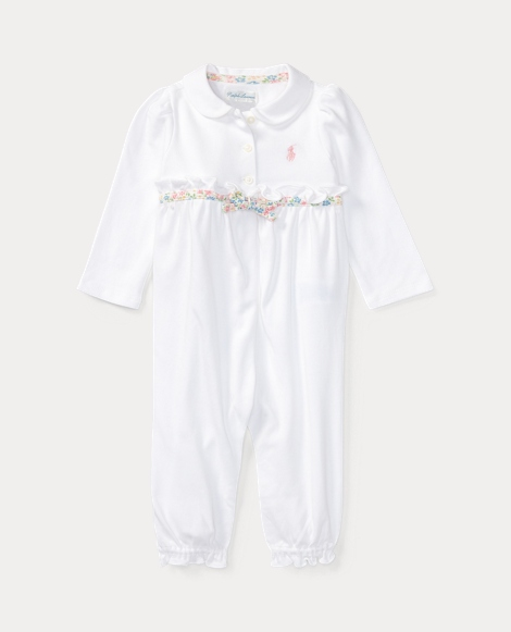 Ruffled Cotton Coverall