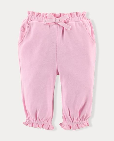 Ruffled Cotton Pant
