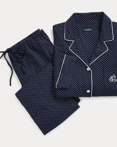 Polka-Dot Capri Pajama Set