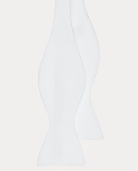 Solid Cotton Piqué Bow Tie