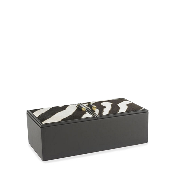 Ralph Lauren Chatwin Zebra-Printed Box Zebra One Size