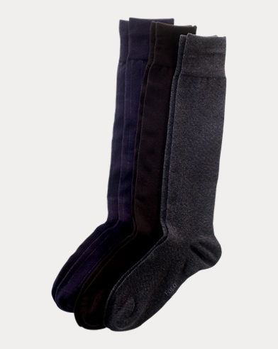 Pattern Over Calf Sock 3-Pack