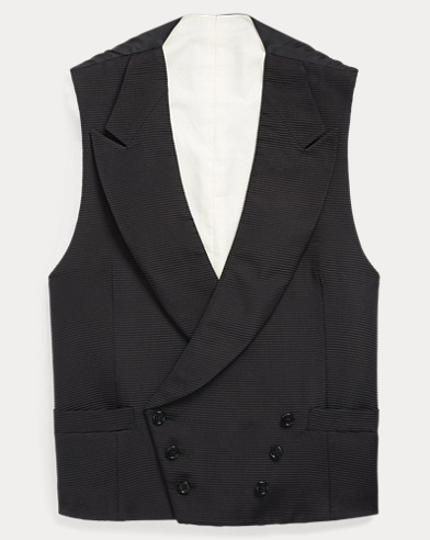 Double-Breasted Silk Vest