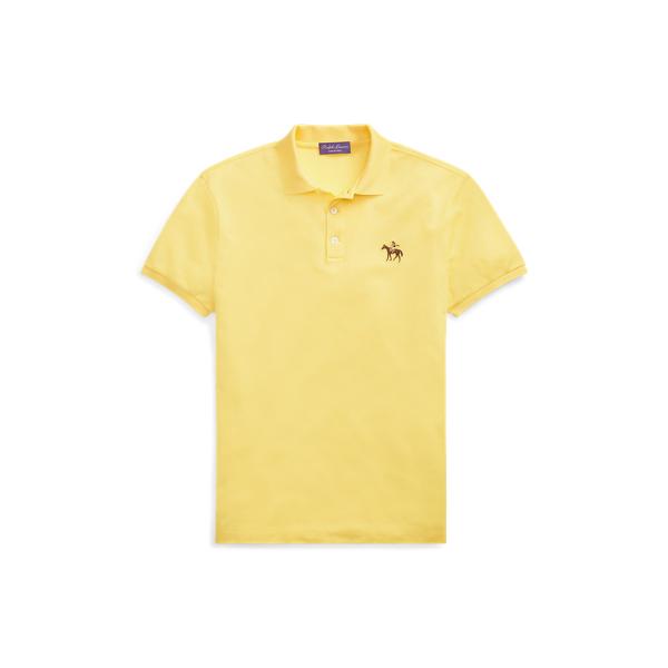Ralph Lauren Custom Fit Piqué Polo Shirt Classic Lemon Yellow Xs