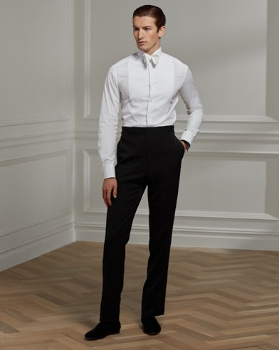 Wingtip-Collar Poplin Shirt
