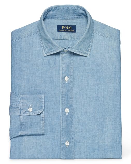 produt-image-0.0. Men Tailored Shop Dress Shirts Slim-Fit Indigo Chambray  Shirt. Polo Ralph Lauren