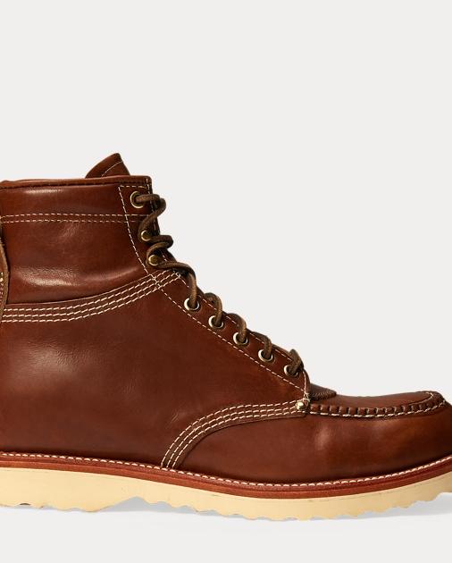 Brunel Leather Work Boot by Ralph Lauren