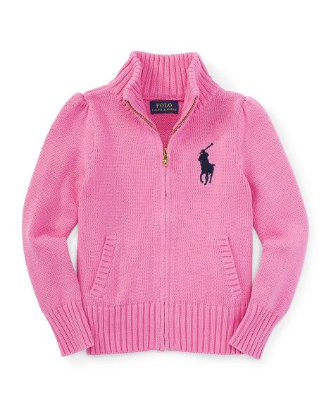 Cotton Zip-Up Mockneck Sweater