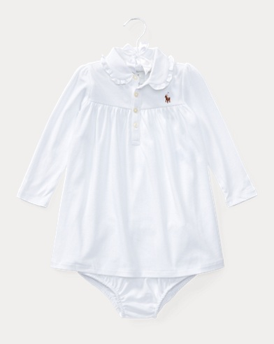 Ruffled Cotton Dress & Bloomer