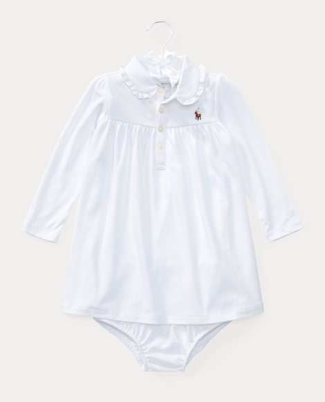 Ruffled Cotton Dress & Bloomer
