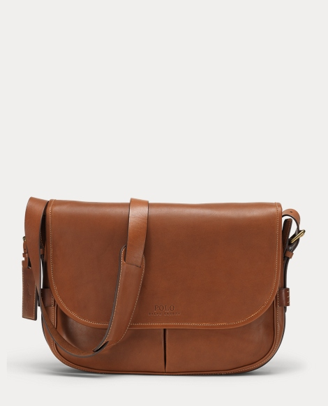 Smooth Leather Messenger Bag