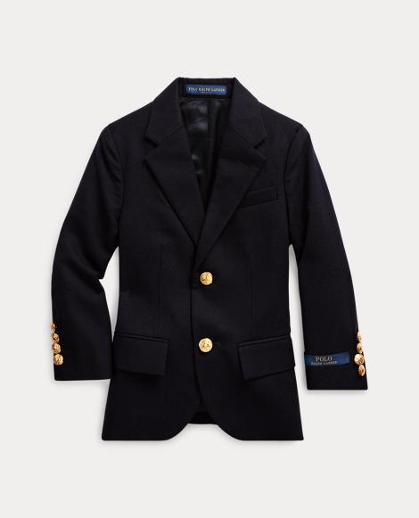 Wool Brass-Button Sport Coat