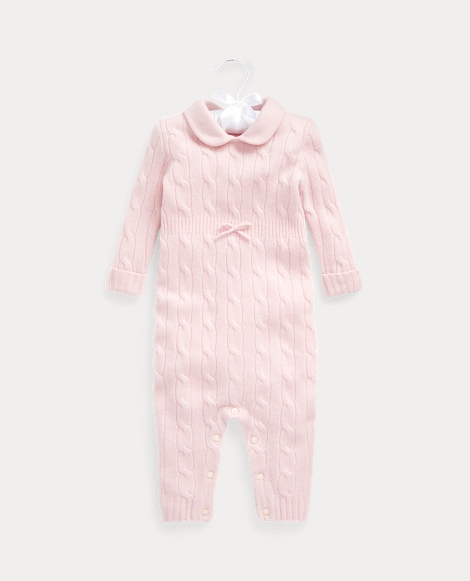 Knit-Collar Cashmere Coverall