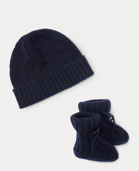 Cashmere Hat & Booties Set
