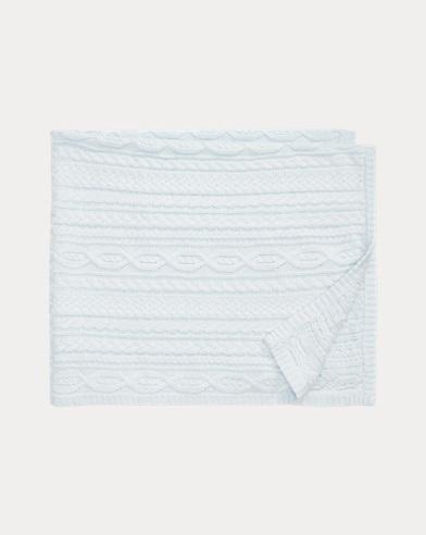 Aran-Knit Cotton Blanket