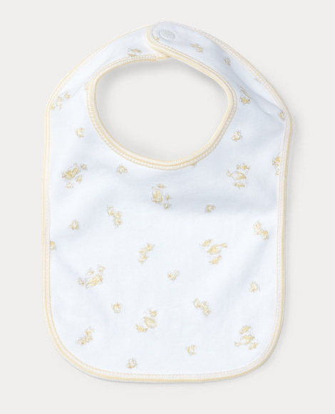 Duck-Print Cotton Bib