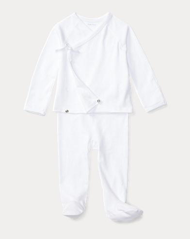 Solid Cotton Kimono Set