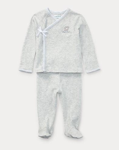 Cotton Kimono Top & Pant Set