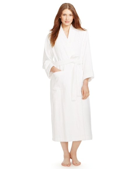Long Cotton Terry Robe