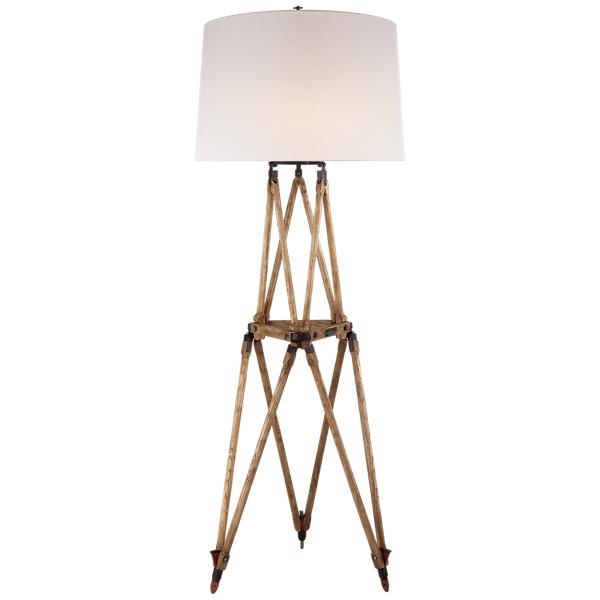 Ralph Lauren Quincy Oak Floor Lamp Vintage Oak One Size