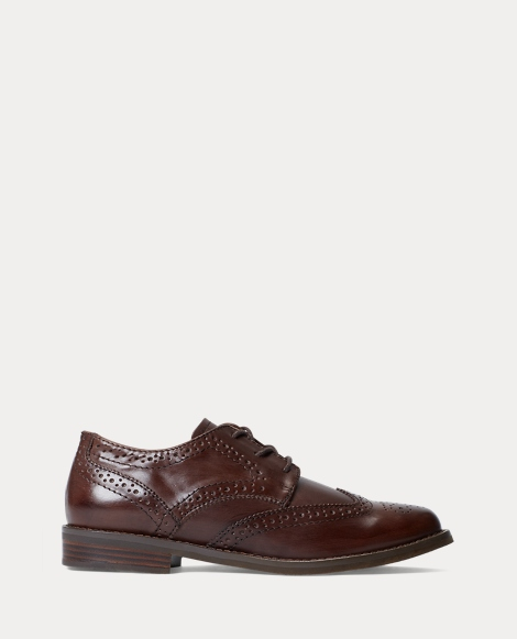 Leather Wing-Tip Oxford Shoe
