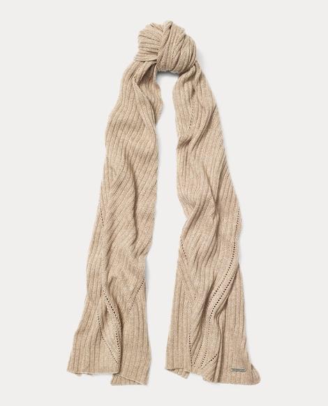 Rib-Knit Wool-Blend Scarf
