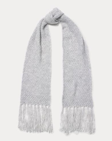 Honeycomb Wool-Blend Scarf