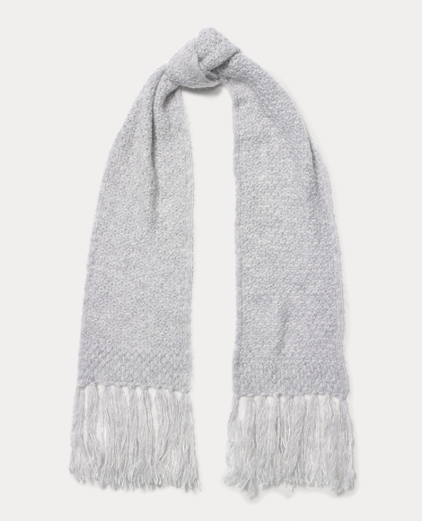 Honeycomb Wool-Blend Scarf