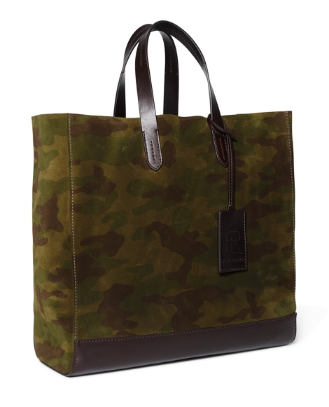Camouflage Suede Tote