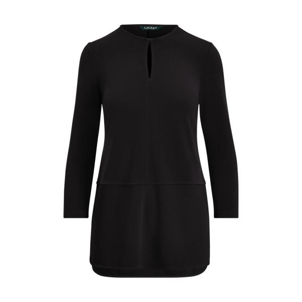 Ralph Lauren Keyhole Jersey Top Black Xs