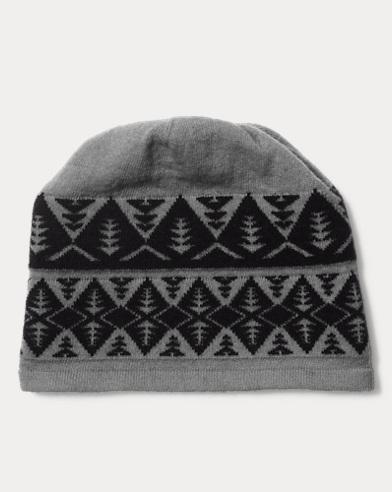 Geometric Wool-Blend Beanie
