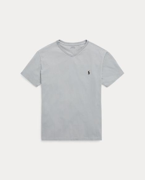 Cotton Jersey V-Neck T-Shirt