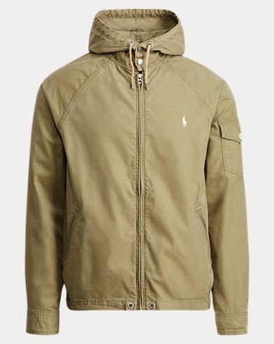 Cotton-Blend Windbreaker