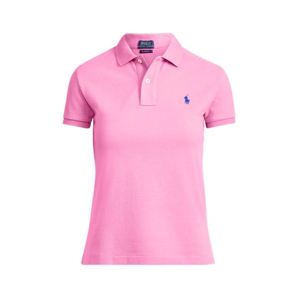 Ralph Lauren Classic Fit Mesh Polo Shirt Maui Pink Xs
