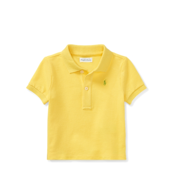 Ralph Lauren Cotton Mesh Polo Shirt Sunfish Yellow 6M