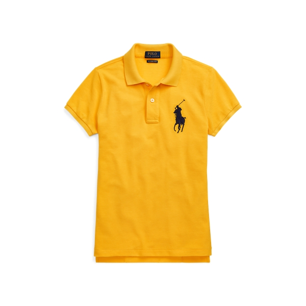 Ralph Lauren Skinny-Fit Big Pony Polo Shirt Bright Yellow S