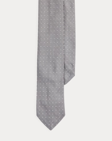 Polka-Dot Silk Repp Narrow Tie