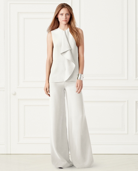 Charmain Silk Wide-Leg Pant