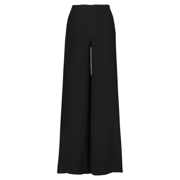 Ralph Lauren Charmain Silk Wide-Leg Pant Black 2