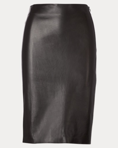Cynthia Lambskin Pencil Skirt